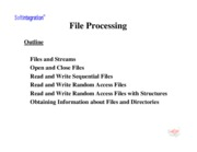 Ch. 13: File Processing