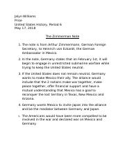 The Zimmerman Note.docx