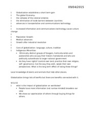 globalization lecture notes