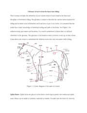 Glossary of tack terms for hunt