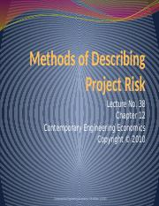 13_Methods-of-Describing-Project-Risk