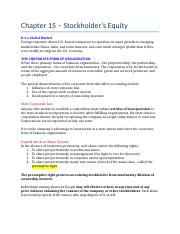 Chapter 15 – Stockholder's Equity (Notes).docx