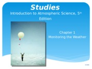 Lecture 1 Weather and Climate (1)