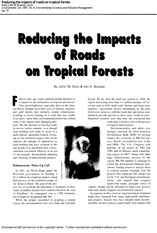 Reducing the impacts of roads on tropical forests