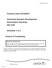 Tutorial letter_ INF30705