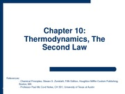 2009-11-17 - Thermodynamics, Second Law - Entropy
