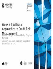 Week 7 Traditional Credit Risk Measurement.pptx