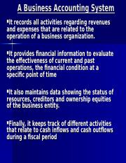 1. INTRODUCTION TO ACCOUNTING AND FINANCE (1)