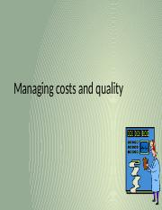Lecture 09 Managing Costs  Quality.pptx