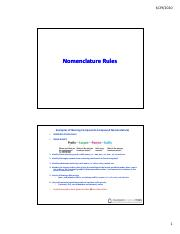 Nomenclature Rules