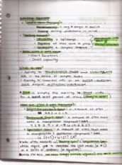 Lecture 6 Working memory Notes