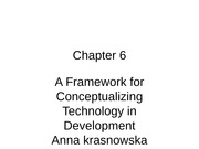 A Framework for Conceptualizing Technology in Development
