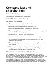 Company law and shareholders.docx