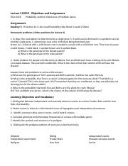 16 Lecture 5 Bi213   Objectives and Assignments.docx