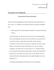 communication process worksheet