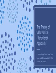 The Theory of Behaviorism.pptx