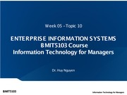Week 05 - Topic 10 - Enterprise Information Systems