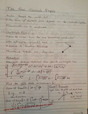 New Classical Physics Notes