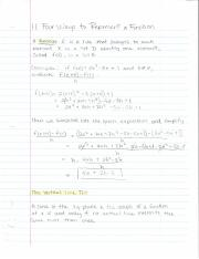 Calc 1 Notes (Functions & Limits, Derivatives, Applications of Differentials)