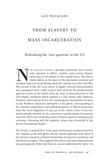 Wacquant Slavery to Mass Incarceration3