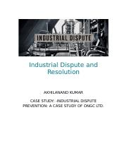 Industrial Dispute and Resolution docc.docx