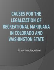 Marijuana legalization in Colorado and Washington state causes
