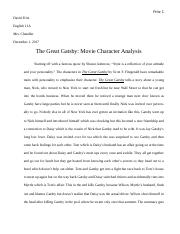 The Great Gatsby-Movie Character Analysis.docx