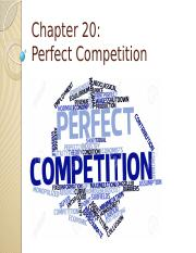 Chapter 20 - Perfect Competition.pptx