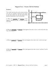 Magnetic Force – Practice Old Test Problems.pdf