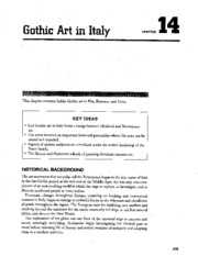 Chapter 14 Gothic Art In Italy AP Study Guide