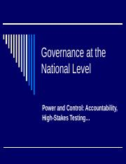Governance at the National Level.ppt