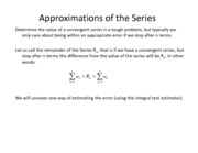 Lesson 19a - Integral Test Estimator