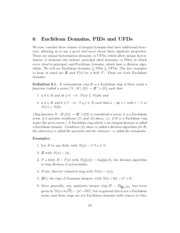 domains classes - ED,PID,UFD