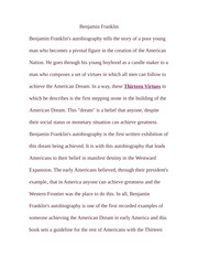 Paper on Benjamin Franklin