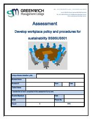 Assessment - Dev wkpl policy and proc for sustain - BSBSUS501 V3.pdf