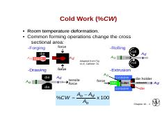 cold work-recovery-recrystallization