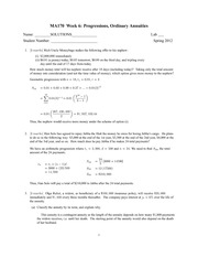 Lab 6 Assignment + Solutions (Spring 2012)