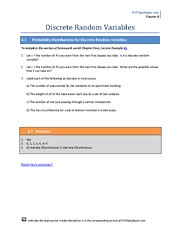Chapter 4 Homework Solution on Introduction to Statistics
