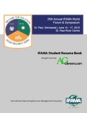 53 Pages 2015 IFAMA Student Resume Book  Resume Book