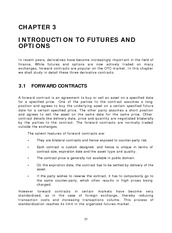 INTRODUCTION TO FUTURES AND