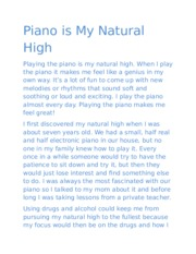 Piano - My Natural High
