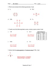 Quiz 7 Solution Summer 2014 on General Chemistry
