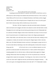 Scarlet Letter essays -- Isolation in The Scarlet Letter