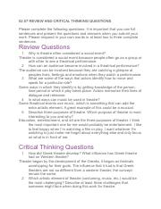 02.07 REVIEW AND CRITICAL THINKING QUESTIONS (Theater)