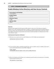 lab 3 enable windows active directory and user access controls It's time to see what microsoft is doing with respect to active directory domain services (ad ds) and authentication enhancements  when a user requests .