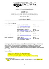 Econ 140 course outline 2013