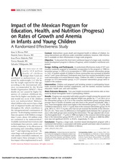 Rivera et al - Impact of the Mexican Program for Education, Health, and Nutrition (Progresa) on Rate