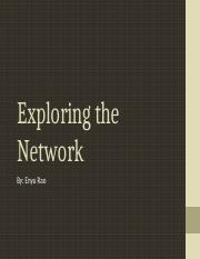 Exploring the  Network.pptx