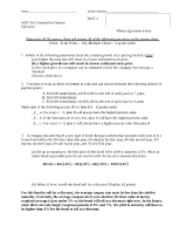 MGF301 Test 1 - Fall 2012 Version I (answers)
