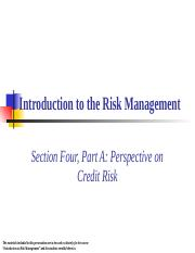 4A Perspective on Credit Risk.ppt